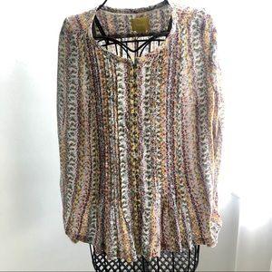 Maeve floral print blouse size M